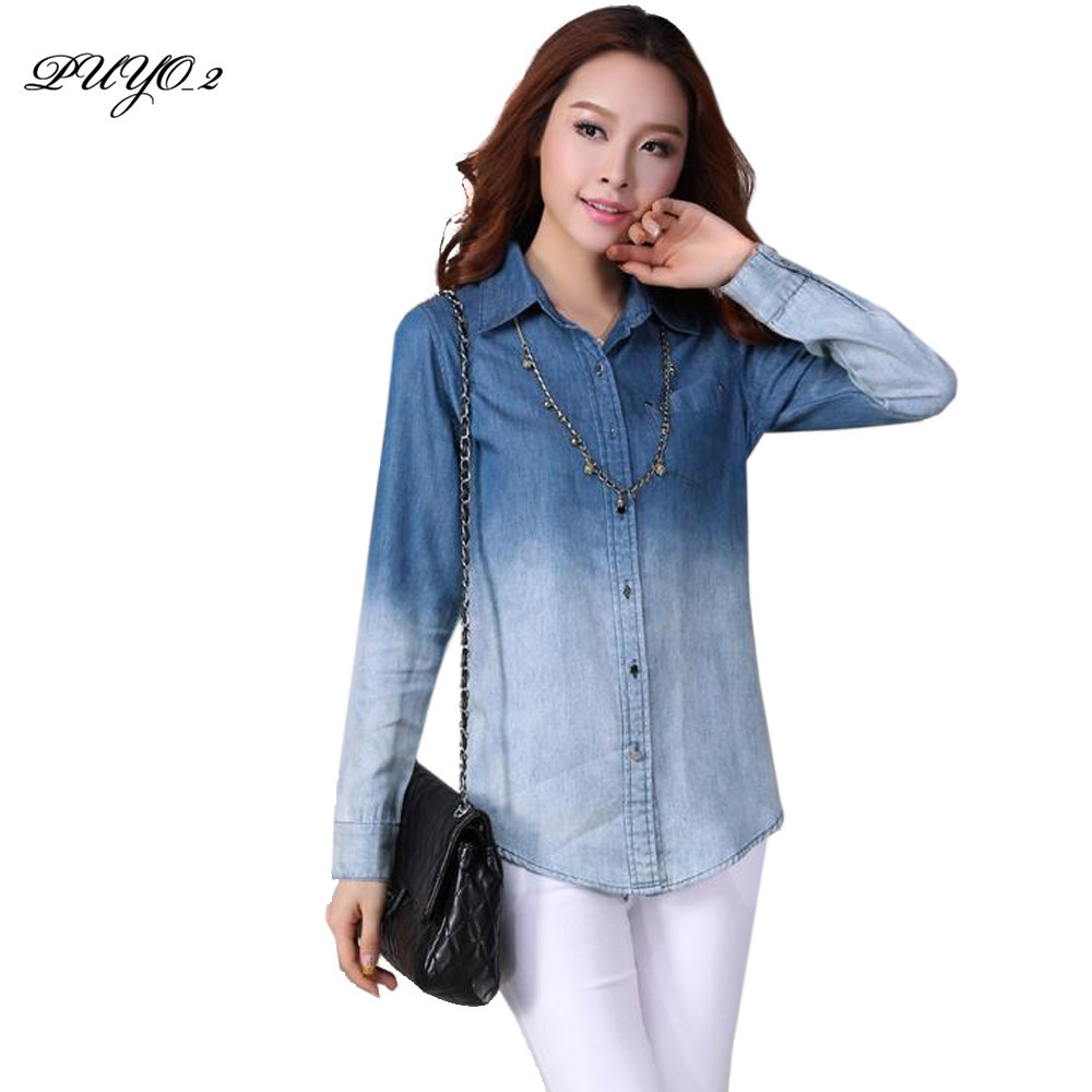 Jeans top for womens jeans am for Ladies light denim shirt