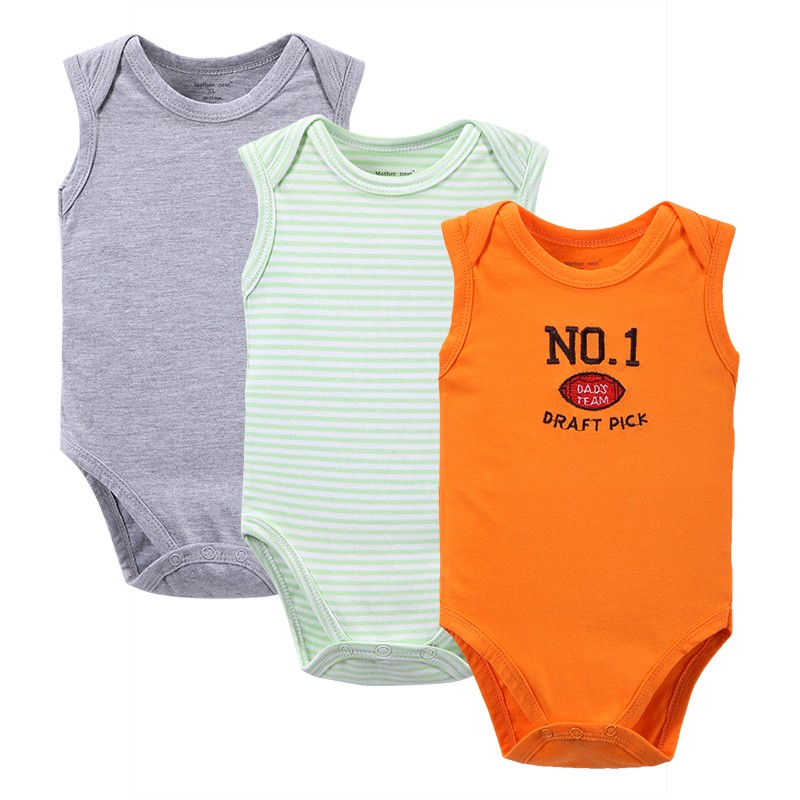 Solid Sleeveless Bodysuit Baby Clothing Cool Baby Girls Boys Similar Original Suit Set Body jumpsuit Summer Style (3)