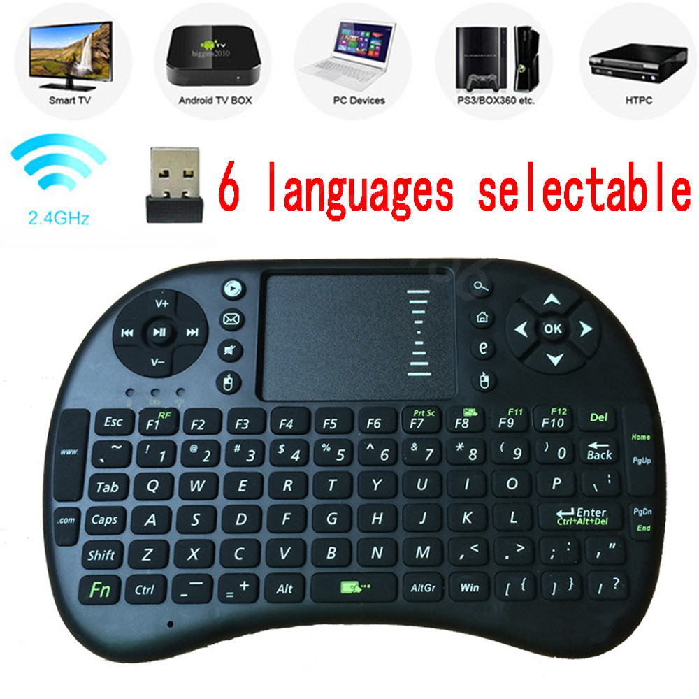 Free shipping For Israel Hebrew English arabic Multi-touch Rii i8 mini keyboard 2.4GHz wireless Gaming fly air mouse for tv box(China (Mainland))