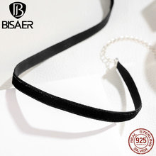 Buy Collares 100% 925 Sterling Silver Flocking belt Choker Necklace Women Collier Necklaces & Pendants Sterling Silver Jewelry for $4.99 in AliExpress store