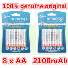 8pcs 100% genuine original enelong 2100mAh NiMH AA rechargeable batteries, high-quality toys, cameras, flashlights and battery(China (Mainland))