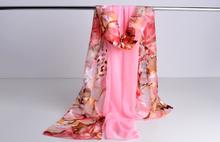 high quality silk shawl Women chiffon scarf shawl womens fashion scarves sillk women thin long scarf shawl-b156