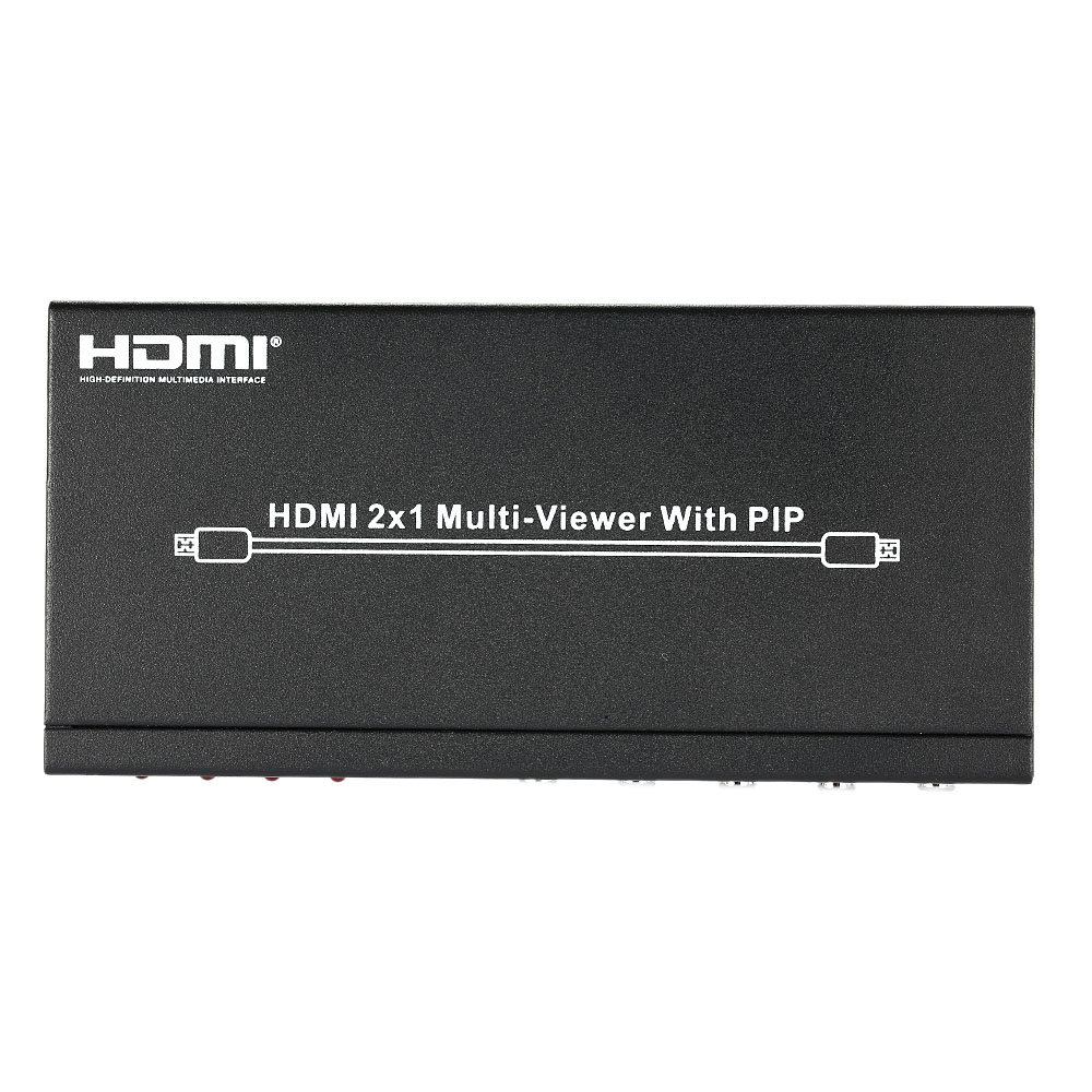 HDS-821P 2 * 1 HDMI Splitter Video Audio Division Multi-Viewer w/ PIP Two Input One output HDMI Port for PC DVD Player to HDTV(China (Mainland))