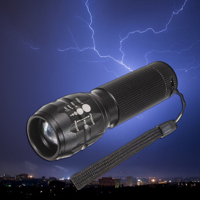 HOT SALE Torch 500 lumen Zoomable LED Flashlight Torch light outdoor lighting New(China (Mainland))