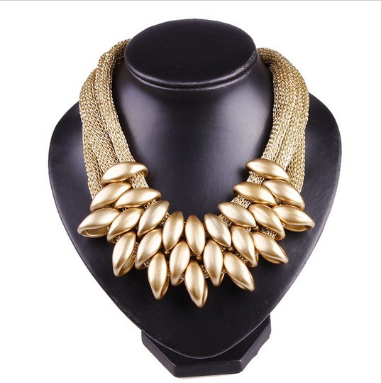 New Brand Bohemia Vintage Women Collar Fashion Charms Choker Bib Matte Rope Weave Punk Necklace Pendant
