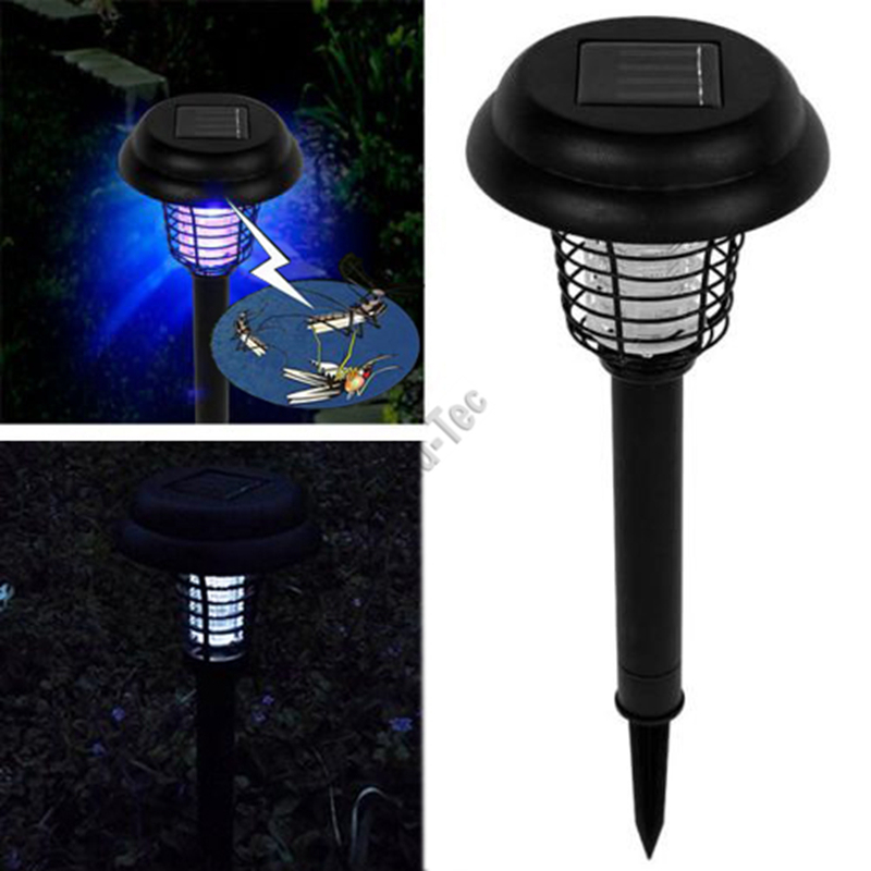 Ulincos UL05 Garden LED Solar Light UV Lantern Anti Insect Mosquito Pest Zapper Trapping Bug Killer Lamp for Outdoor Lawn Yard(China (Mainland))