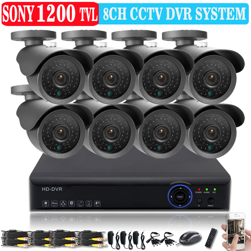 HD Sony 1200TVL video Surveillance CCTV System 8channel 960H CCTV DVR 1200tvl IR Cameras Security System hdmi 1080p NVR usb wifi(China (Mainland))