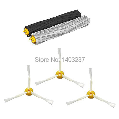 2 individual extractors &amp; 3 side brushes Tangle-Free Debris Extractor Set replacement For iRobot Roomba 800 series 870 880<br><br>Aliexpress