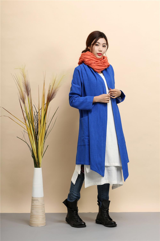 pure linen dust coat Cardigan irregular hem Cape Poncho Shawl cape Women