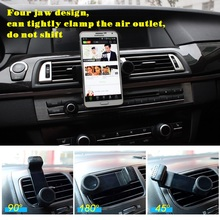 Car Phone Holder Bracket Air Vent Mount Universal 360 Degree Holder Stands Support For Galaxy Samsung iphone Accessories Car kit