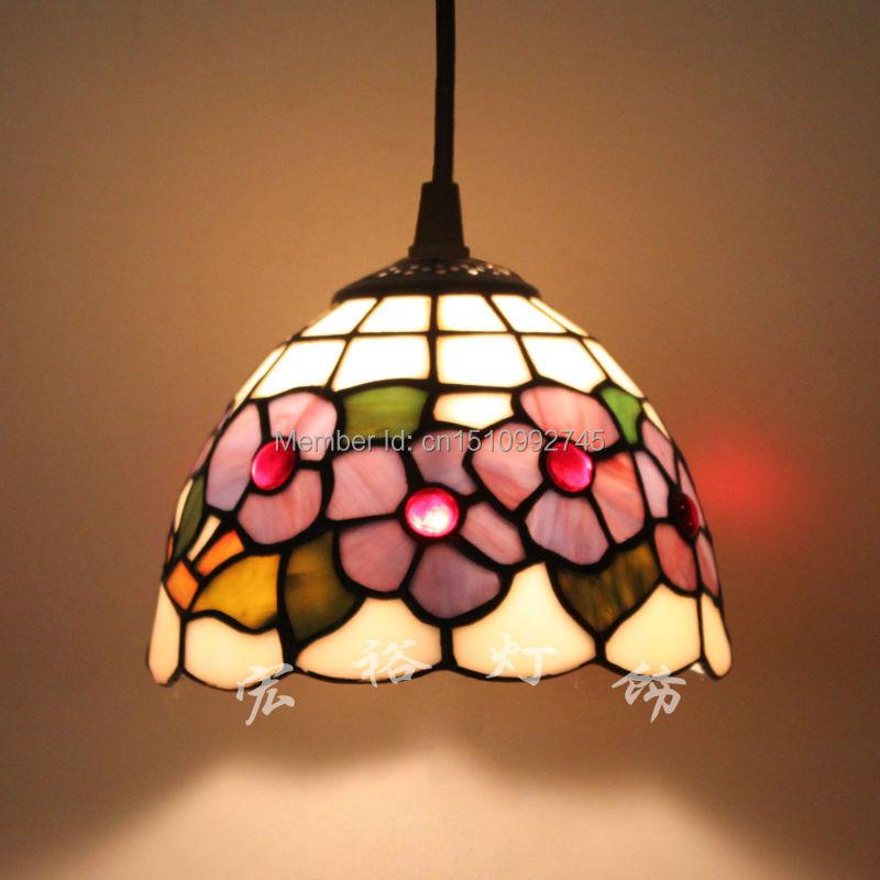 vintage tiffany lamp pendant light floral style stained. Black Bedroom Furniture Sets. Home Design Ideas
