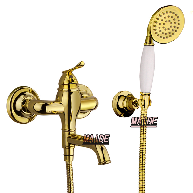 Buy Luxury Gold Bathtub Faucet Tap Bathroom Lavatory Shower