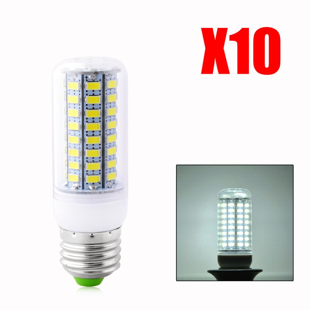 10pc/lot New LED Lamp Corn Bulb Droplight SMD 5730 72 LEDS Crystal Chandelier LED Light Bulbs  E27 E14 GU9 GU10 LED Light EB6032