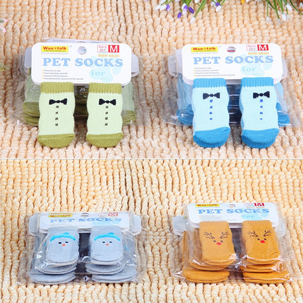 Free Shipping 12 Piece  Lovely  style Dog Socks For Dog In Cold W