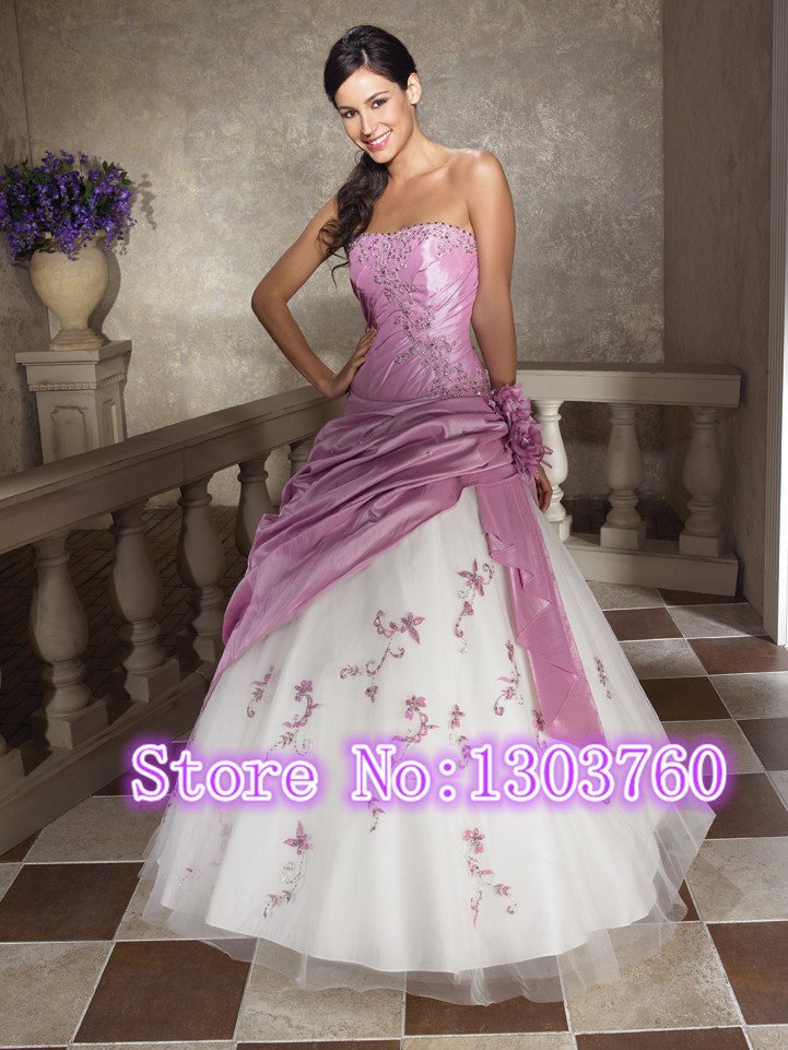 In stock 2014 of sell like hot cakes and free shipping and embroidered pink dress beautiful adult vestido debutante 15 anos(China (Mainland))