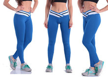 Sport pant leggings exercise workout legging fastion high waist cross Stripe Leggings Ladies for running 6