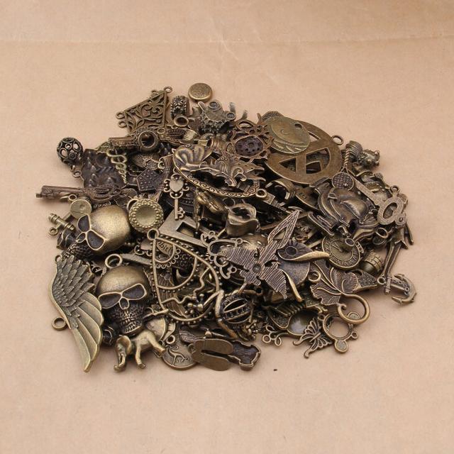 Яге 50 - 80 модели 100 шт. случайные шарм Mix старинное серебро, Античная бронзовая ...