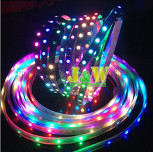 Free Shipping 4M WS2811 48leds/m WS2811 IC Built-in 5050 SMD RGB LED Chip Non-waterproof DC5V Individually Addressable strip(China (Mainland))
