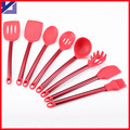 2016 Hot Selling Set of 6pcs Silicone Kitchen Cooking Tools with Stainless Steel Handle Cooking Utensil