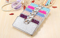 Super Bling Luxury Full of Diamonds Flip Leather Case with Bowknot Buckle for Samsung I9300 Galaxy