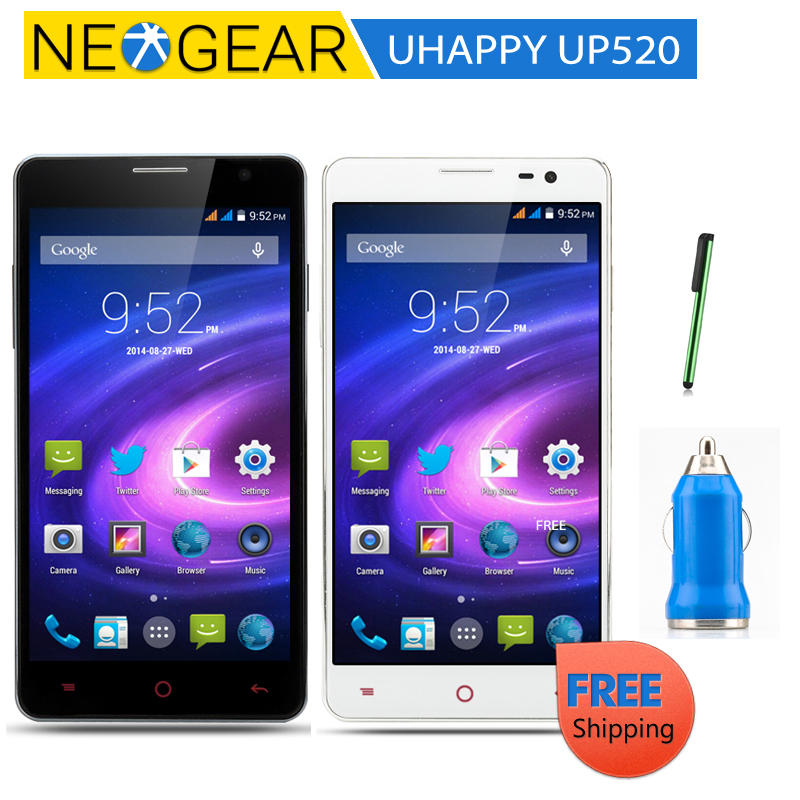 Original UHAPPY UP520 Quad Core Phone - Android 4.4, 5 Inch IPS Screen,1.3GHz CPU, 1GB RAM + 8GB ROM(China (Mainland))