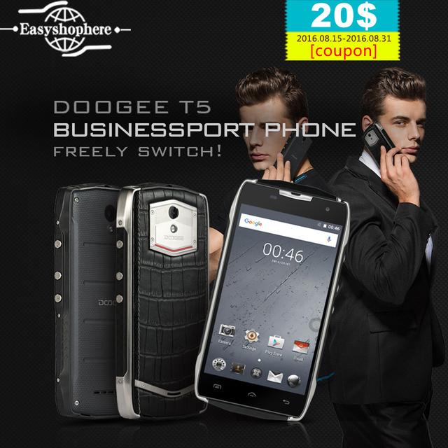 "Doogee T5 Мобильного Телефона 5 ""Android 6.0 Окта основные MTK6753 3 ГБ RAM 32 ГБ ROM 4 Г Смартфон 4500 мАч IP67 Водонепроницаемый 13MP OTG Celular"
