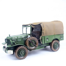 Mettle scale model military vehicles vintage car model of military vehicle green 665