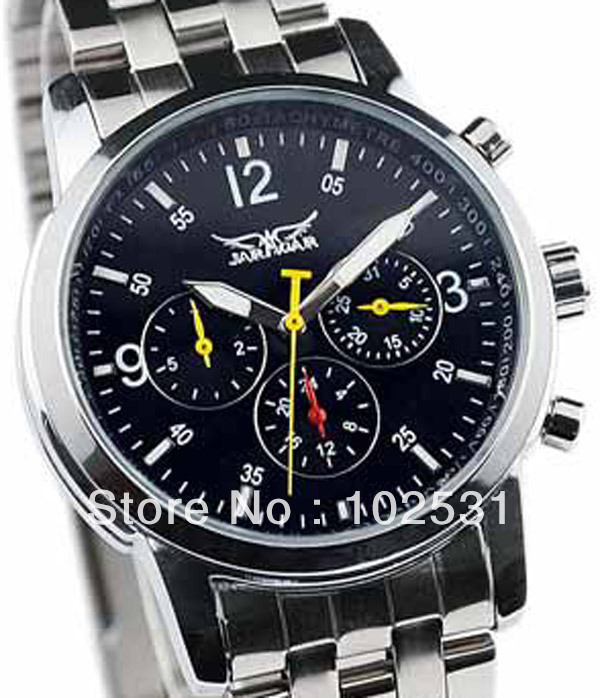 classical style luxury brand 6 hand Swiss automatic mechanical men's business waterproof watches - Cougar Trading Co., Ltd., Guangzhou store