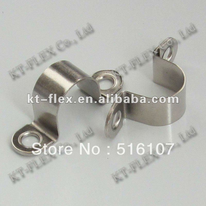 Stainless steel strap conduit pipe saddle clamp in clamps