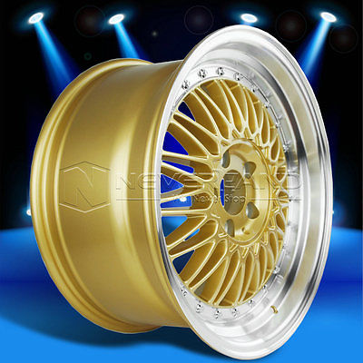 2015 New 18'' x 9'' Car Alloy Wheels Rim Gold Machined Lip for MAZDA 3 6 RX7 RX8 +34 Offset USA Stock Free Shipping(China (Mainland))