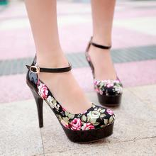 free shipping Women s Customize Small Yards 32 33 Strap High heeled Shoes Single Shoes Customize