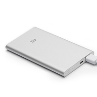 Original Xiaomi Power Bank 5000mAh Ultra Slim Thin 9.9mm Portable Mobile Charger For Xiaomi Mi4 Mi3 For iPhone 6 5s Cell Phones