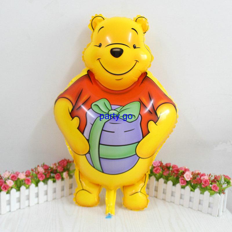 Large Size Cut winnie Bear Cartoon balloon Birthday Party Wedding Decoration Aluminum Foil Balloons Supplier 10pcs(China (Mainland))