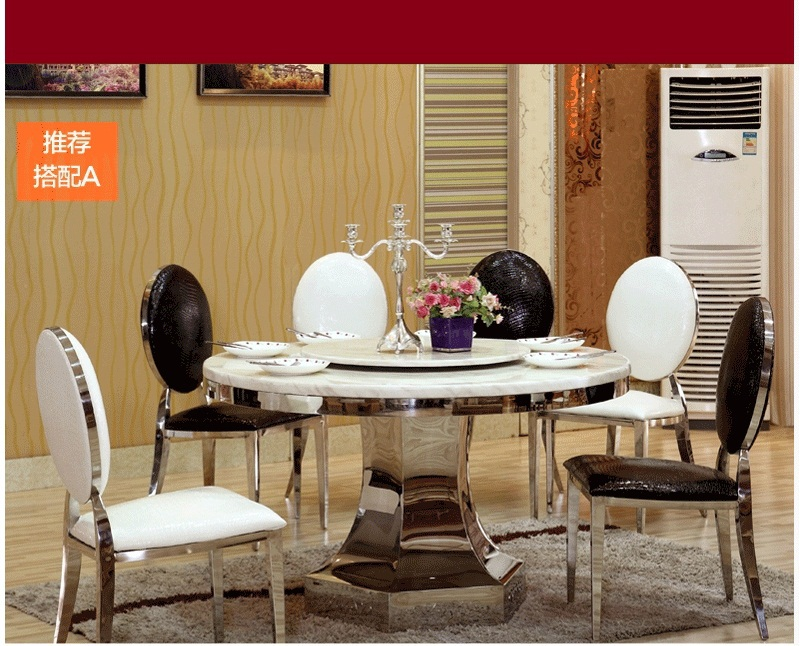 Hot Sale Dining Room Table Set With Round And Chairs 6