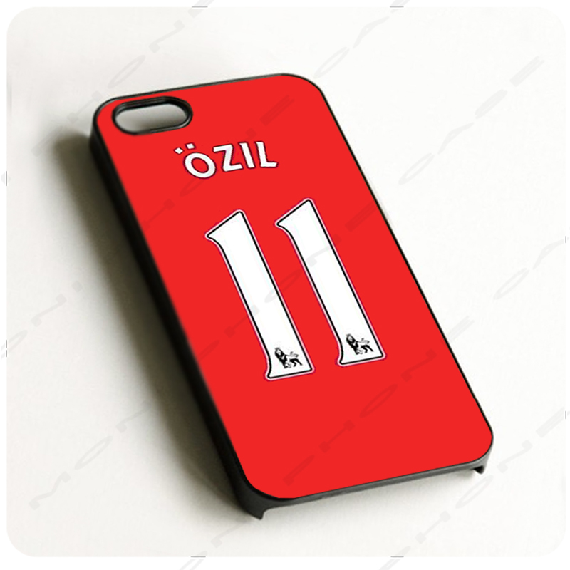 Mesut Ozil Arsenal Football Kits Black Hard Skin mobile phone Cases Cover For iPhone 4S 5S 5C 6 6PLUS Free shipping with gift(China (Mainland))
