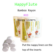 Happyflute 100% Biodegradable & Flushable cloth diaper Flushable Nappy Liners 1 roll free shipping