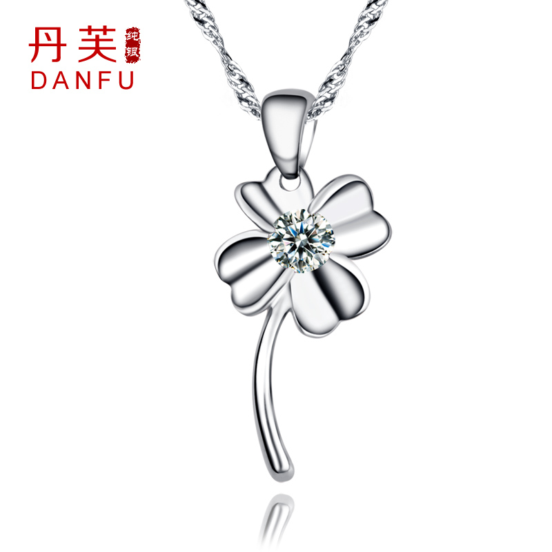 Lucky four leaf clover 925 pure silver necklace female fashion diamond jewelry birthday day gift - Future idear store