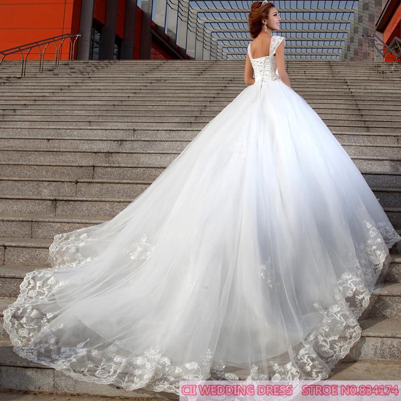 Diamond Wedding Gown: Cii Spring Korean Trailing Bridal Diamond Lace Wedding