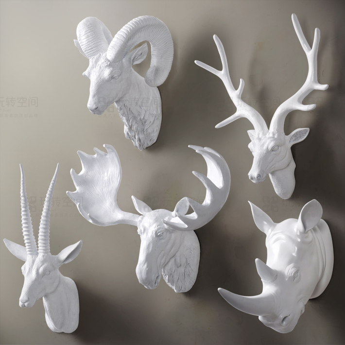 Animal Head Wall Decor staghorns en masse are the new gallery wall. via flora grubb