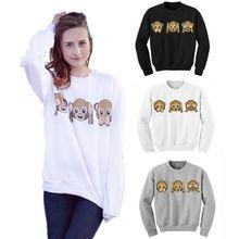 Fashion Women Sweatshirt 3D emoji Printed Hoodies Sports Tracksuit Causal Pullover(China (Mainland))