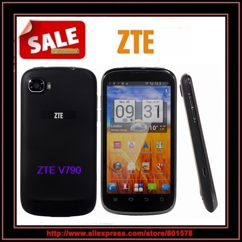 free shipping Original ZTE V790 Android phone Qualcomm Dual SIM camera GPS WIFI Google Play unlocked WCDMA 3G Cell phone(Hong Kong)