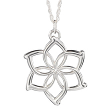 Buy Elves Galadriel Queen necklace fashion flower silver pendant men women wholesale for $1.07 in AliExpress store