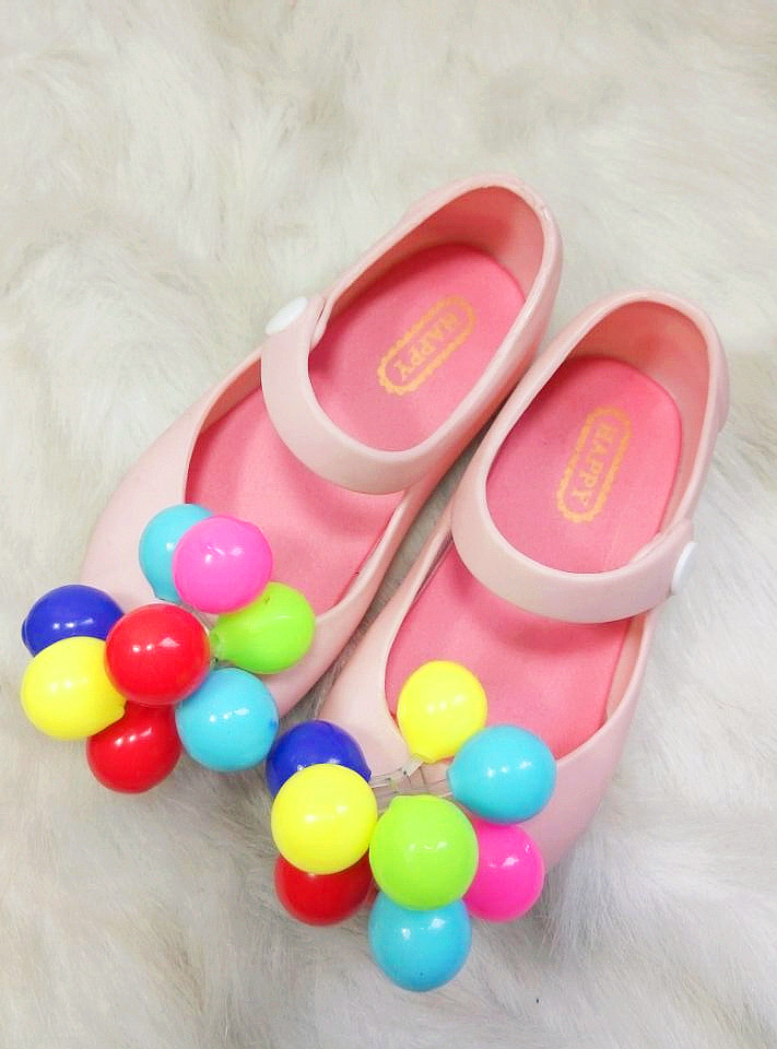 Harper seven similar shoose summer fashion Chromatic Sphere babygirl pvc soft bottom fish mouth shoes(China (Mainland))