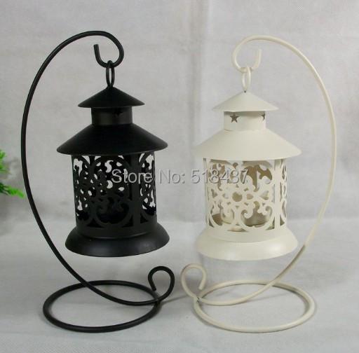 Metal Wrought Iron Pillar Tea Light Candle Holder Antique Design Fashion iron classical hanging romantic candleholder vintage(China (Mainland))