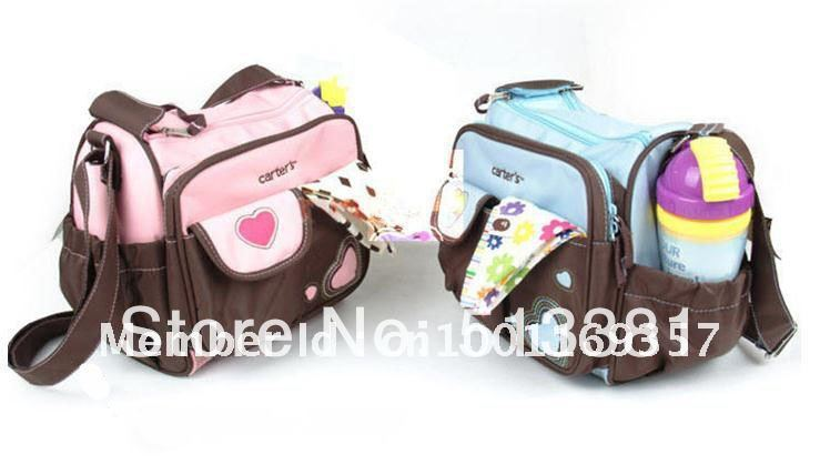 Wholesale! 5pcs/lot Mummy bag(small size)/carters diaper bag with multi-functional/mami nursery bags Free Shipping<br><br>Aliexpress