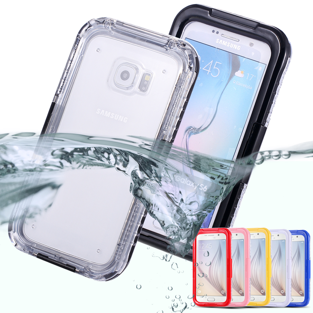 For Galaxy S7 Waterproof Case Swimming Diving Underwater Front Clear-View Cover For Samsung Galaxy S7 G9300 Strap Heavy Duty Bag(China (Mainland))