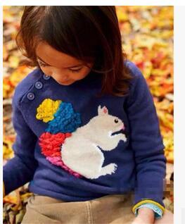 E11742 Retail 2015 New Fashion Autumn Girl Sweater Squirrel O-Neck Girl Pullover Lolita Children Clothes Girl Clothes <br><br>Aliexpress