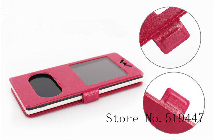 New Flip Double View Window Leather Cover Case For philips s308 Stand Phone Cases Accessories 5 Colors(China (Mainland))