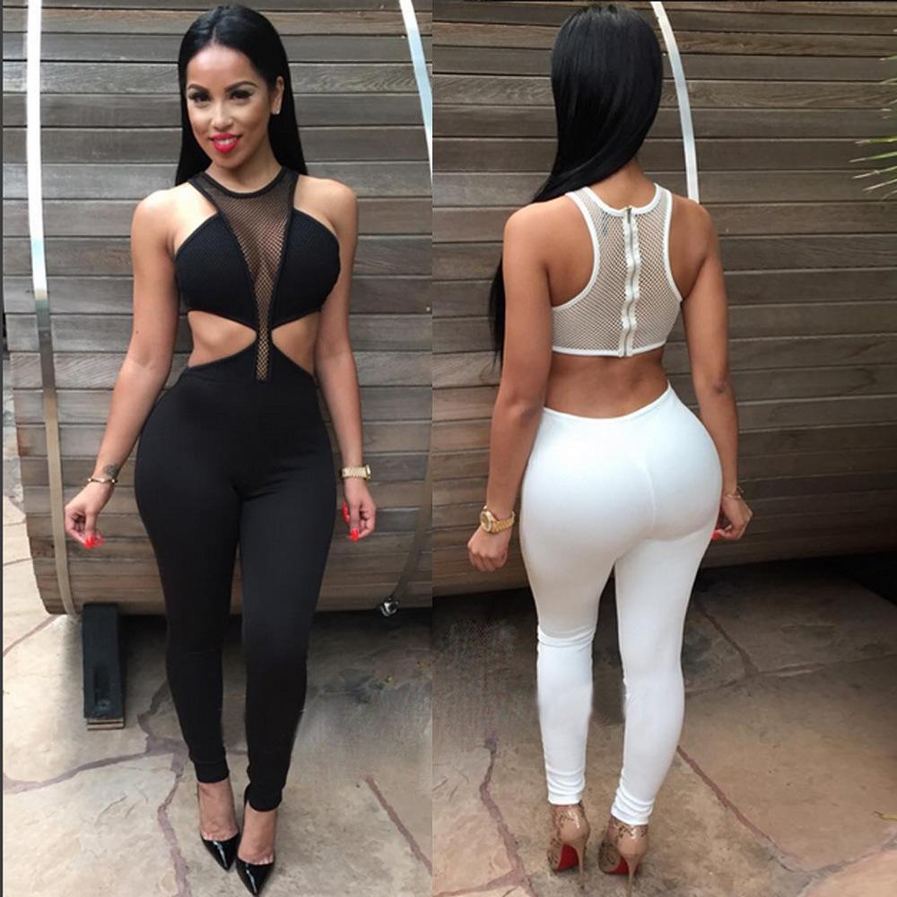 2019 Wholesale Combinaison Femme Sexy Women Mesh Patchwork ... ca7b7157c67