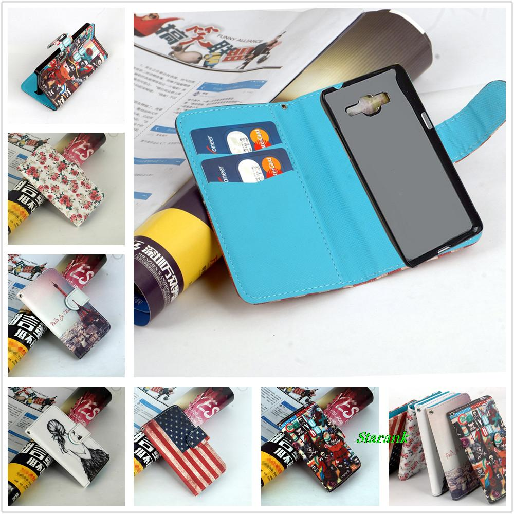 Starank Printing Leather Flip Case cover For Samsung Galaxy Grand Prime G530 G530H G5308W phone with Card Holder And wallet(China (Mainland))